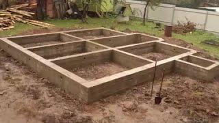 Смотреть видео строительство фундамента