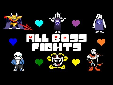 Undertale - All Boss Fights (Colored Sprites Mod)