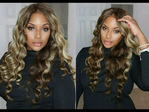GRWM with this Ciara Inspired Blonde Highlighted Wig