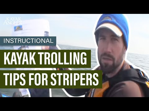 Kayak Trolling Tips For Stripers | Instructional