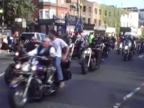 Hells Angels Biker Funeral London