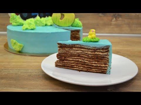 Шоколадный медовик / торт СПАРТАК/ Торт на день рождения