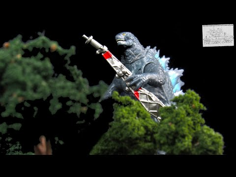 Playmates Godzilla Vs Kong (2021) Godzilla Battle Damaged With Radio Tower Figure Review - Spoilers!