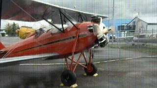 CMF 1930 Waco INF Biplane Startup