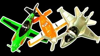 Disney Planes Dark Side Knock Off Toys Ep 1 Dusty, Chupacabra, Zed, Bravo, Ripslinger Smashing