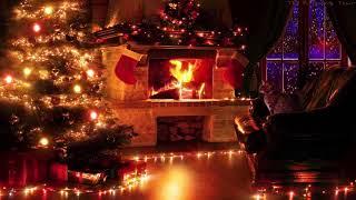 🎧 Рождественская атмосфера | Метель и треск камина звучат 10 часов