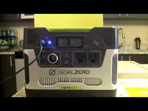 Goal Zero- Yeti 400 Solar Generator Review