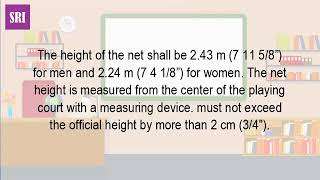 What Is The Height Of The Net In Volleyball
