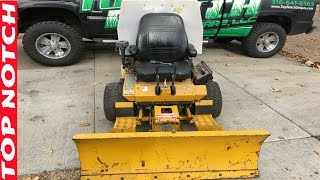 Install Snow Plow on Walker Mower, More Leaf Cleanup Jobs, Top Notch
