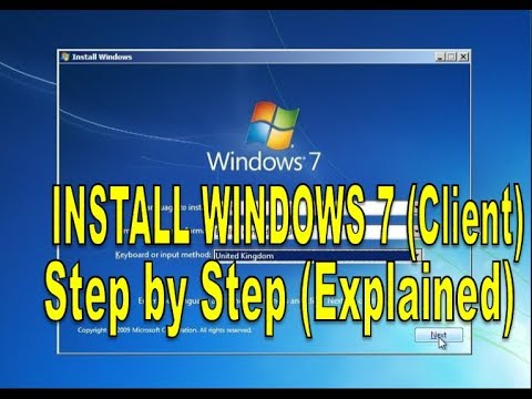 HOW TO INSTALL WINDOWS 7? step by step (CLIENT)-| 2019 guide