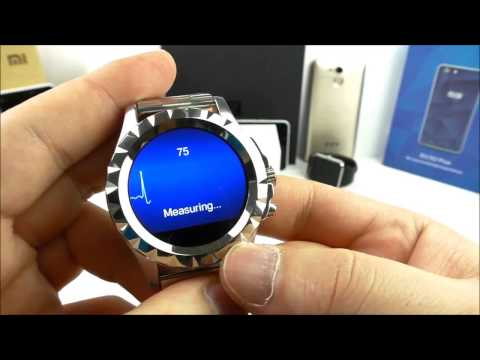 NO 1 SUN S2 Metal Smartwatch, 1.22 Round Display, MTK6260, Heart Rate Monitor