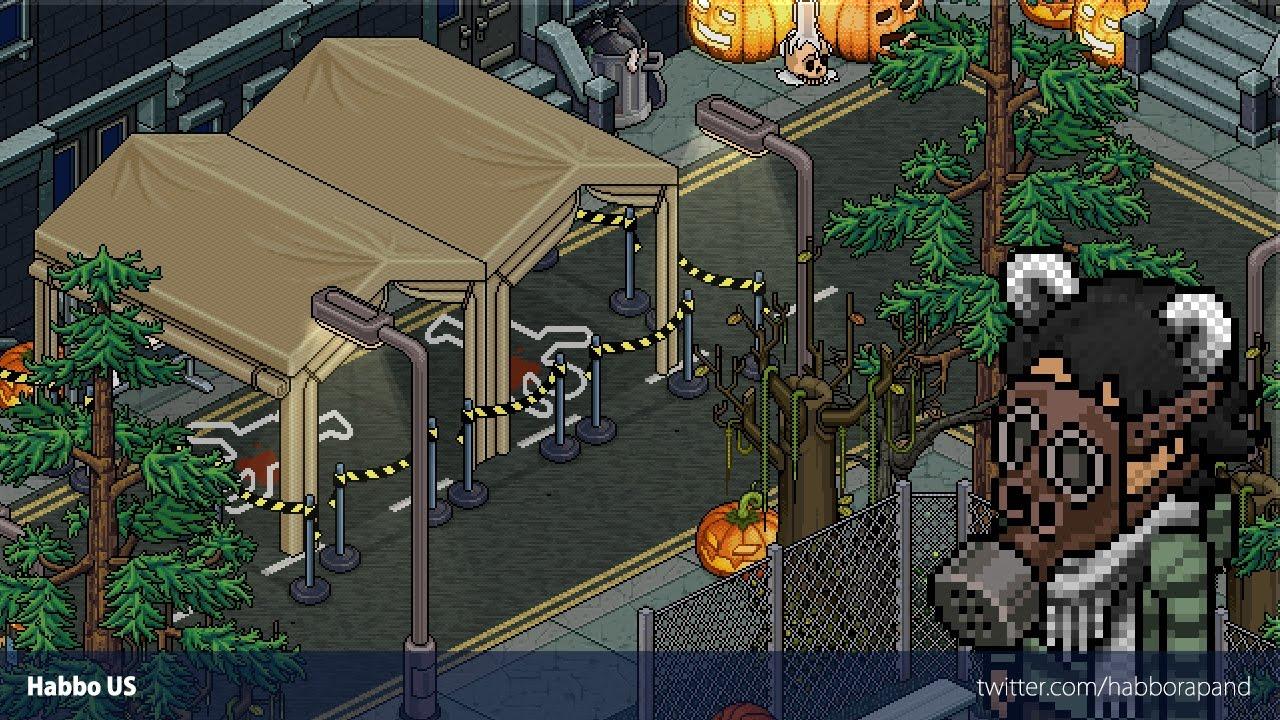 Habbo Halloween.Habbo Speedbuild Halloween Murder Scene Youtube