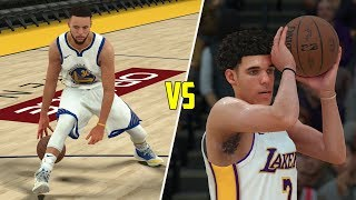 Can lonzo ball beat stephen curry in a 1v1? nba 2k18 gameplay!