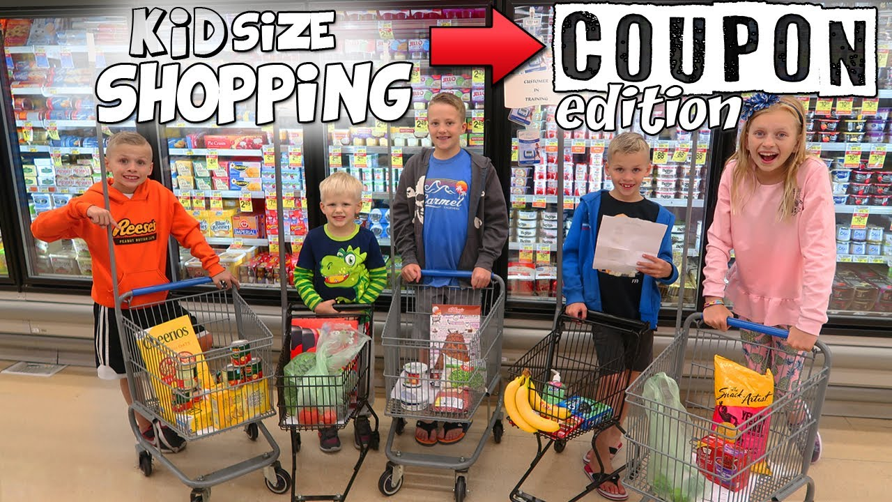 Kid Size Shopping - Using Coupons to Get FREE Groceries!