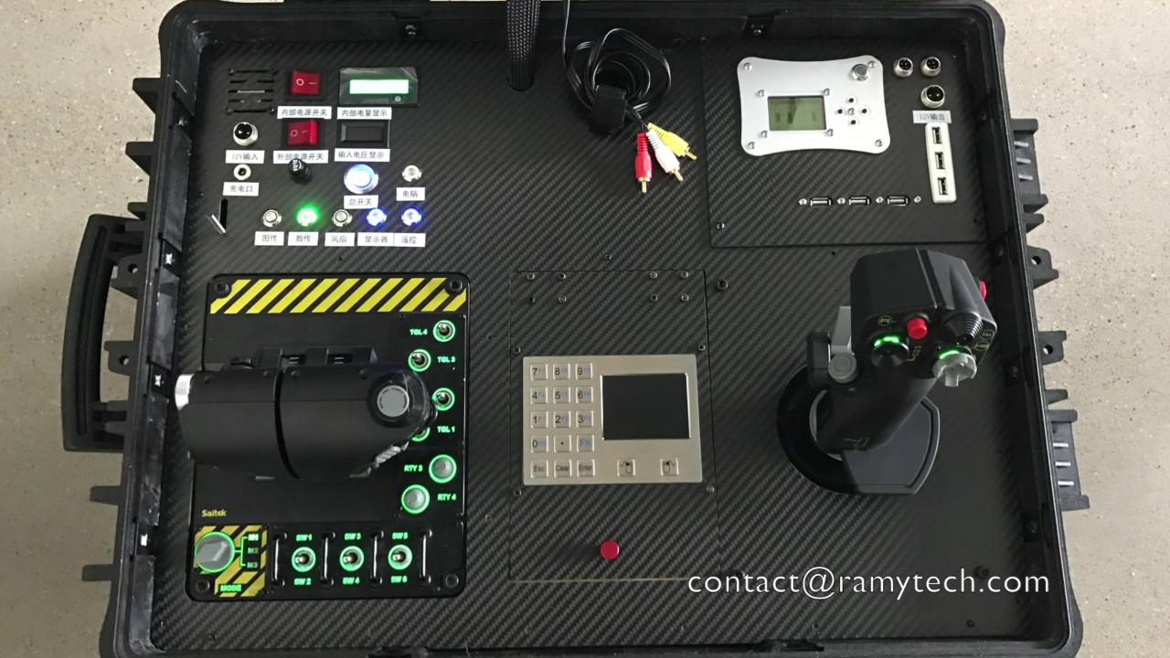 [RAMY] FPV briefcase ground station for drone joystick tv UPS, GCS