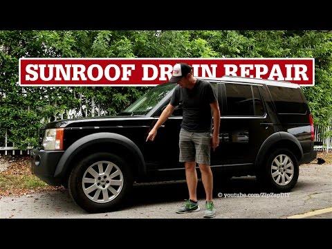 LR3 Sunroof Drain Repair | Water in Driver's Footwell - YouTube