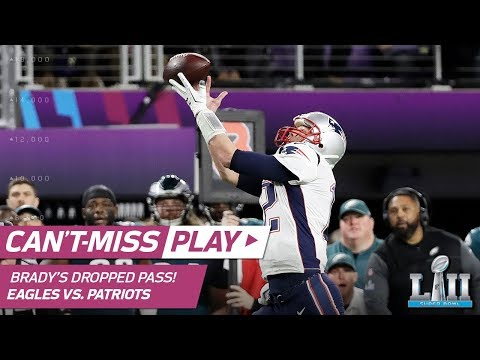 Tom Brady Drops Wide Open Pass On Failed Trick Play Attempt | Can't-Miss Play | Super Bowl LII