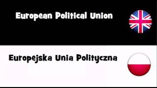 SAY IT IN 20 LANGUAGES = European Political Union