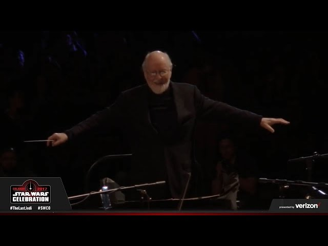 JOHN WILLIAMS musical tribute to Carrie Fisher at Star Wars Celebration 2017