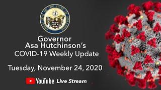 LIVE: Governor Hutchinson Provides COVID-19 Update (11.24.20)