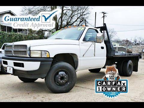 Sold! 1997 Dodge Ram 3500 Flatbed - Mallard Motors - #TrustTheDuck