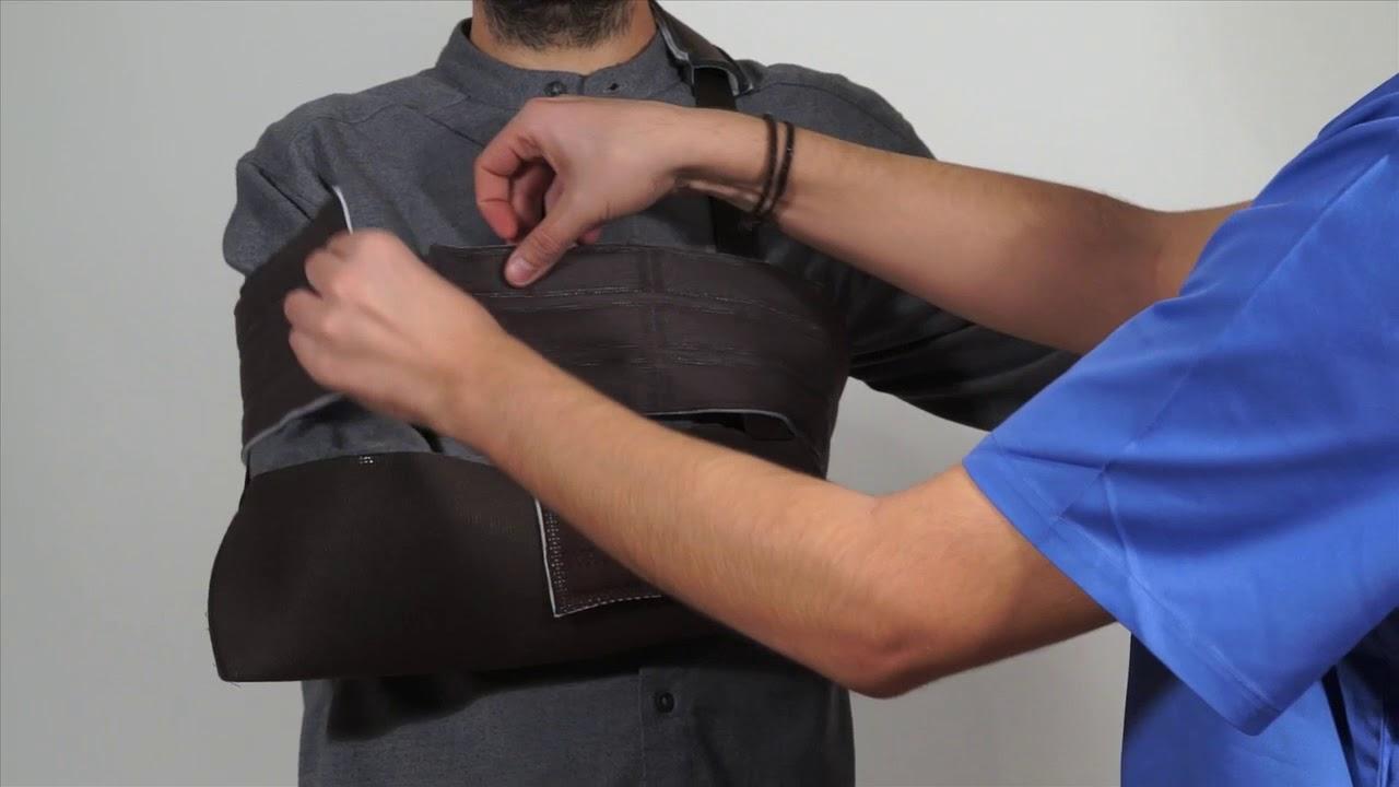 Cómo poner el cabestrillo inmovilizador hombro toráx - YouTube d9931ca401b1