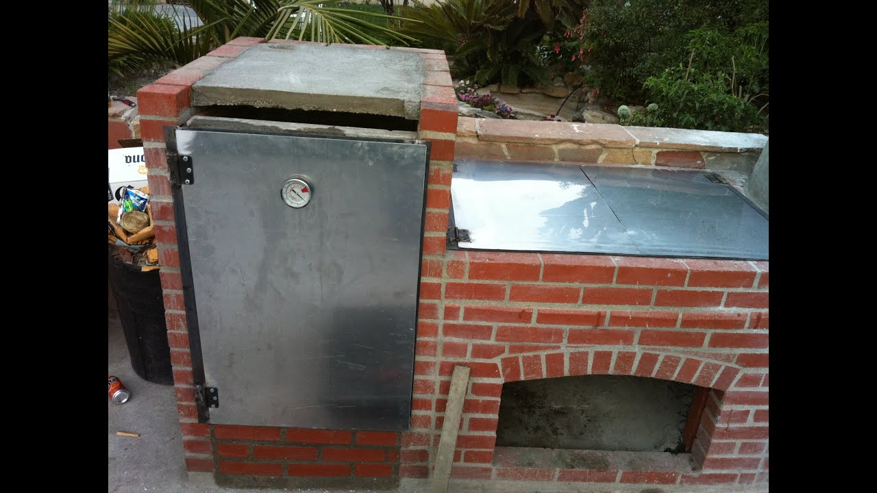 Construcci n de parrilla y horno youtube for Construccion de chimeneas de ladrillo