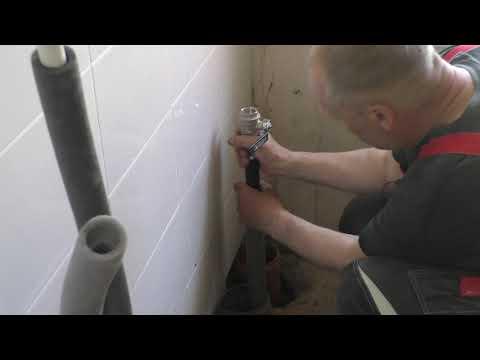 Ввод воды  ПНД  труба, как  поставить резьбовой фитинг