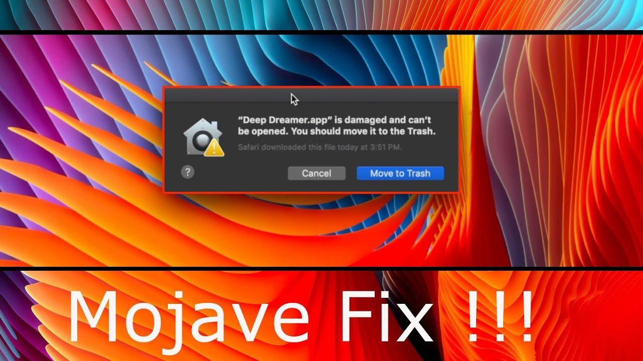 mac os mojave download damaged