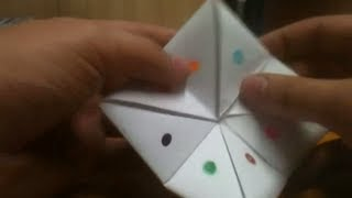 Faire un pouêt pouêt - Jeu en origami