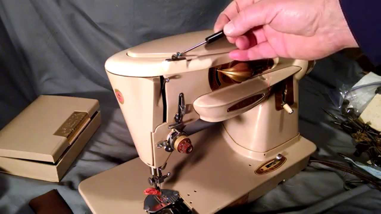 How to Thread a Vintage Singer Sewing Machine Rocketeer 500 500A 503 503A  Bobbin