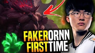 Faker Plays Ornn for The First Time! - SKT T1 Faker Plays Ornn with New Runes for New Season!