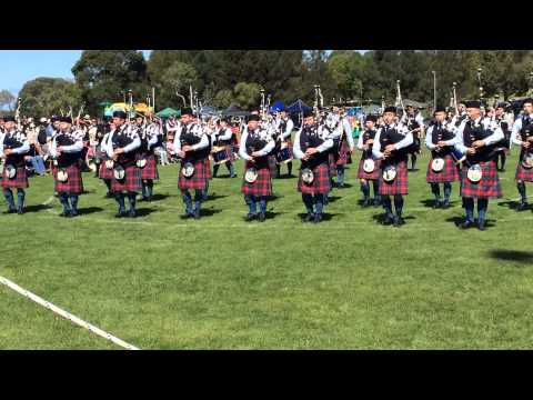 City of Whitehorse Pipe Band Vic Champs 2015 Marchoff Lochanside