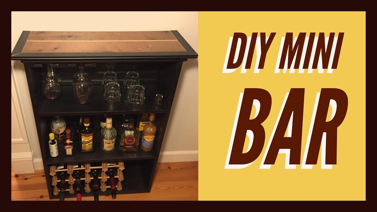 Marvelous How To Build A Mini Bar DIY