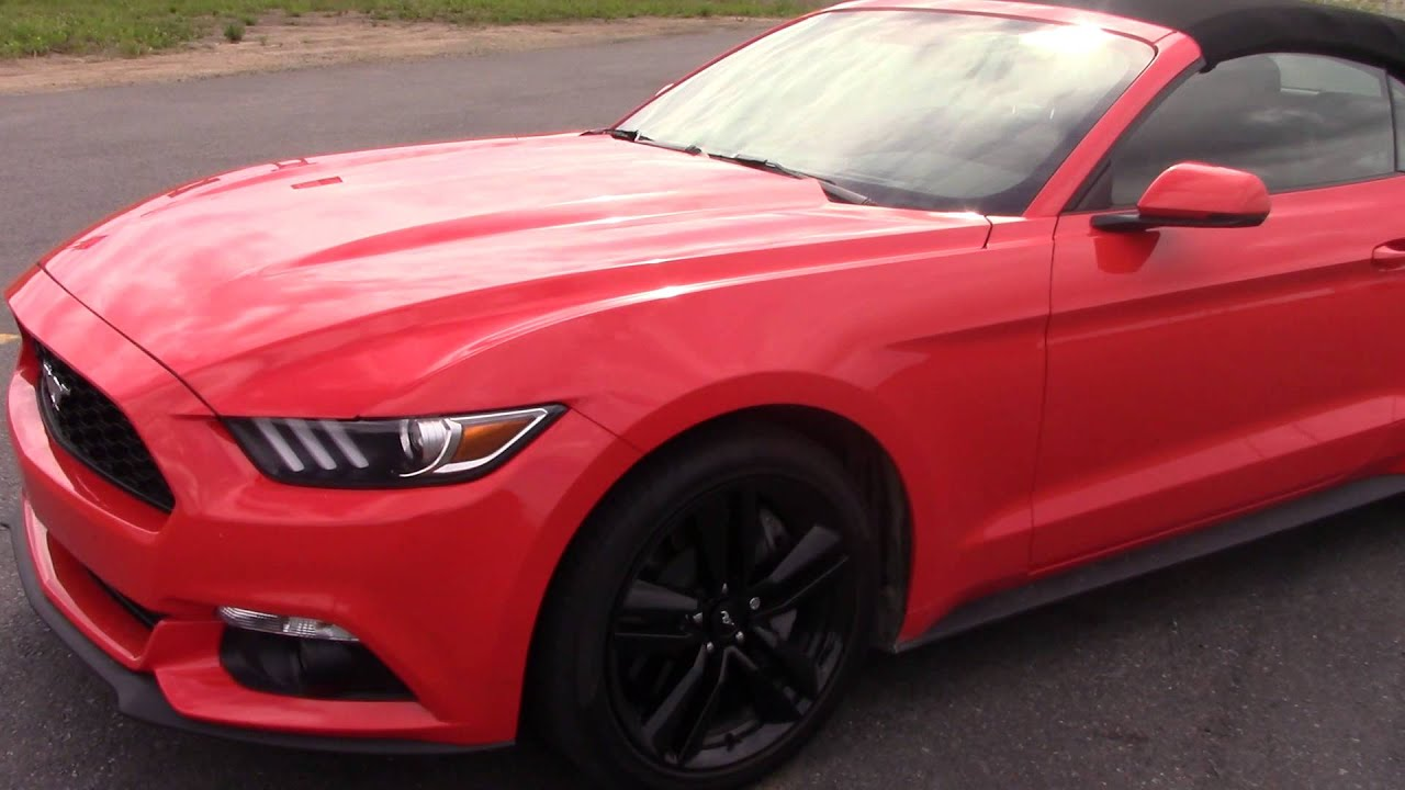 Ford Mustang Turbo Ecoboost 2017 Décapotable Introduction Évaluation Tests