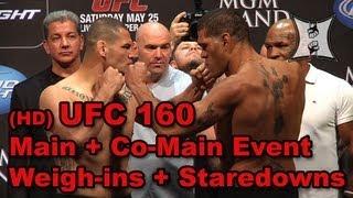 UFC 160: Cain Velasquez vs Bigfoot Silva, Dos Santos vs Hunt: Weigh-ins + Staredowns (HD)