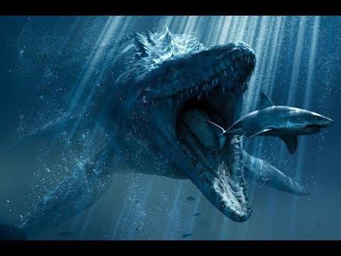 jurassic world mosasaurus feeding time youtube