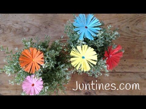 Flor de papel fáciles de hacer con niños