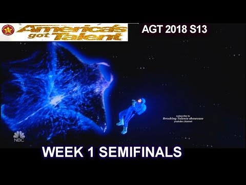 Front Pictures Multimedia Act Wildcard GETS X From SIMON Semifinals 1 America's Got Talent 2018 AGT