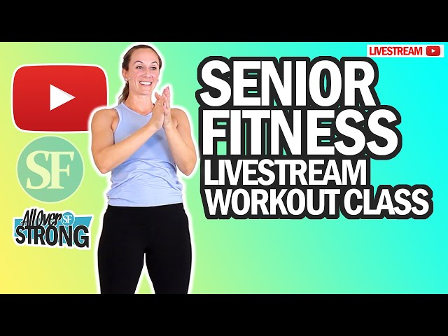 Senior Fitness - Low Impact Cardio Walking Exercises And Seated Abs Workout | Livestream Class