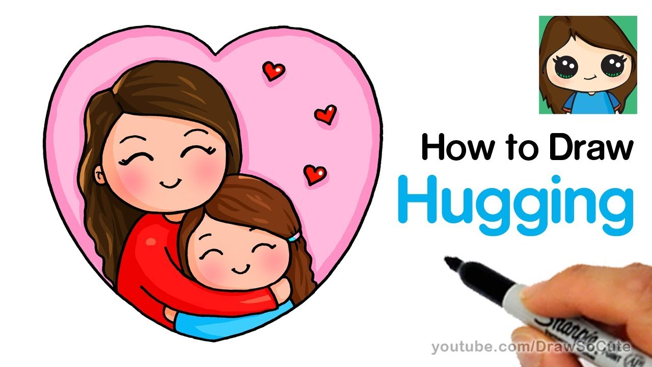 a4423b47 How to Draw Hugging Mom Easy - YouTube