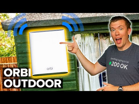 WiFi in the Garden... will it work?! | Netgear Orbi Outdoor Satellite Review