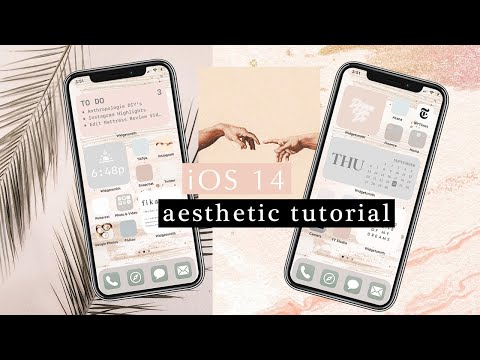 HOW TO *iOS 14 Aesthetic Tutorial* Easy Step-by-step Guide Customize Widgets, Shortcuts U0026 App Covers