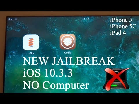 NEW How To Install Cydia JAILBREAK iOS 10.3.3 NO Computer iPhone 5 , 5C & iPad 4 - H3lix