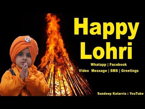Happy Lohri Greetings 2019, SMS, Message, Whatsapp Download, Video English