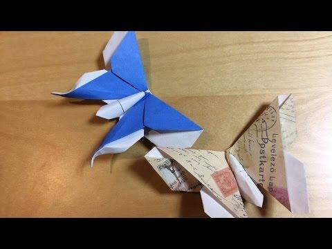 Hướng dẫn cách gấp CON BƯỚM - Origami
