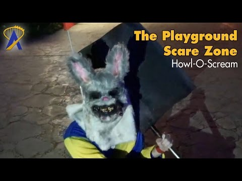 The Playground Scare Zone at Howl-O-Scream Busch Gardens Tampa