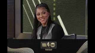 Shaq, D-Wade and Adam Lefkoe Give Candace Parker a Birthday Shoutout | NBA on TNT