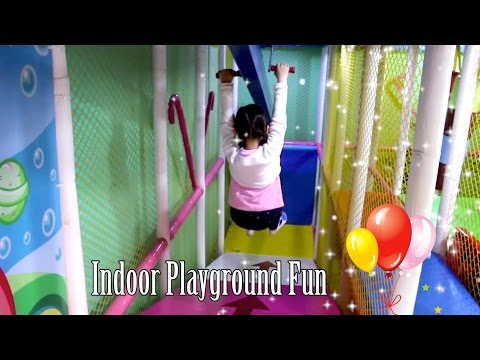 Indoor Playground Family Fun For Kids Slide Swing Trampoline Balls Playroom | TheChildhoodLife