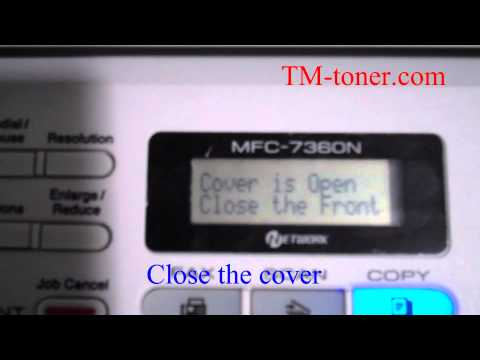 How to reset extent life drum unit for Brother MFC-7360, MFC-7460DN, MFC-7860DW printer